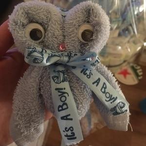 Image 5 - Ruban imprimé, 1 rouleau, 10Yards, il est un garçon et une fille, ruban en Satin pour fête prénatale, emballage cadeau, artisanat, rubans de noël, bricolage