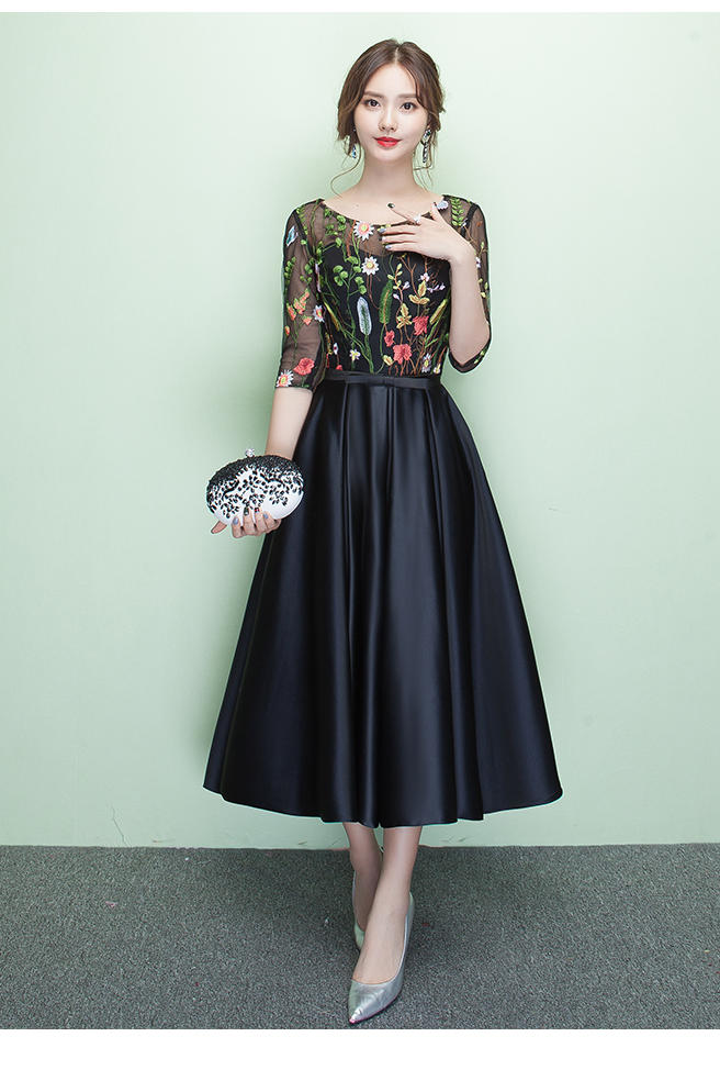 Online Get Cheap Tea Length Black Bridesmaid Dresses -Aliexpress ...