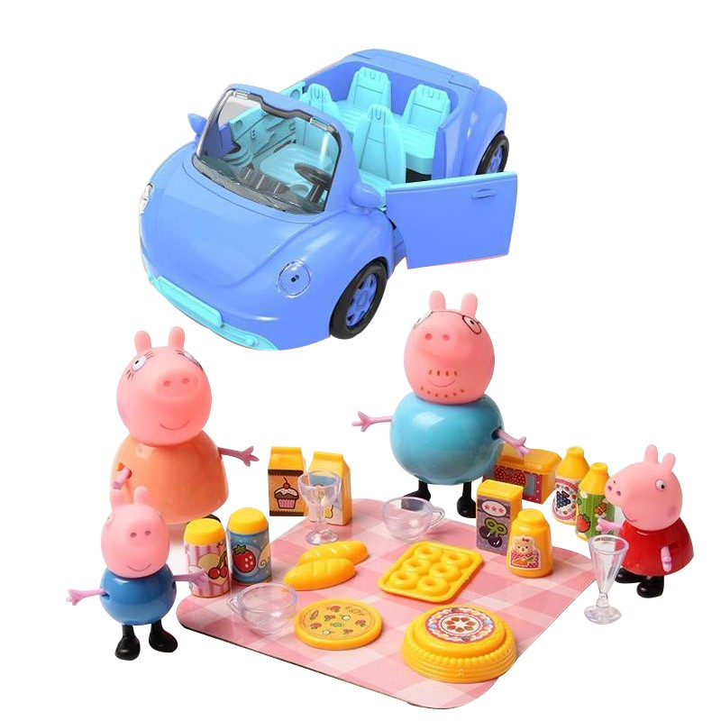 Aiboully toys Series of Picnic Car ferris wheel Toys PVC Action Figures Family Member Toy Baby Kid Birthday Gift brinquedo huile toys 3108 baby toys traveling picnic cooking suitcase toy included stove utensils plates toy meal bacon and eggs