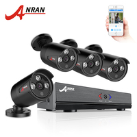 ANRAN 4CH CCTV HDMI DVR 1080P AHD 4PCS 720P IR Weatherproof Outdoor CCTV Camera Home Security