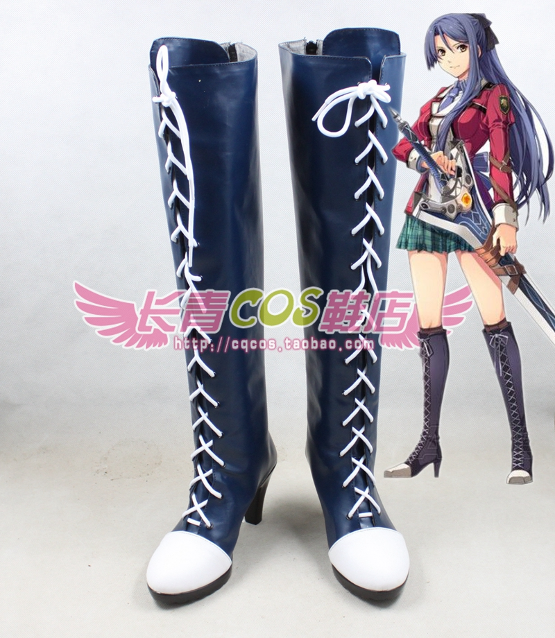 The Legend of Heroes: Trails in the Flash Laura S Arseid cosplay Shoes Boots Custom Made 0359