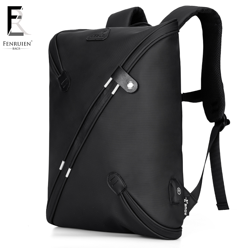 FRN Multifunction USB Charging Men 15 inch Laptop Backpacks For Teenager Fashion Male Mochila Leisure Travel Backpack Black аксессуар чехол для xiaomi redmi note 5 5 pro neypo premium black nsb4331