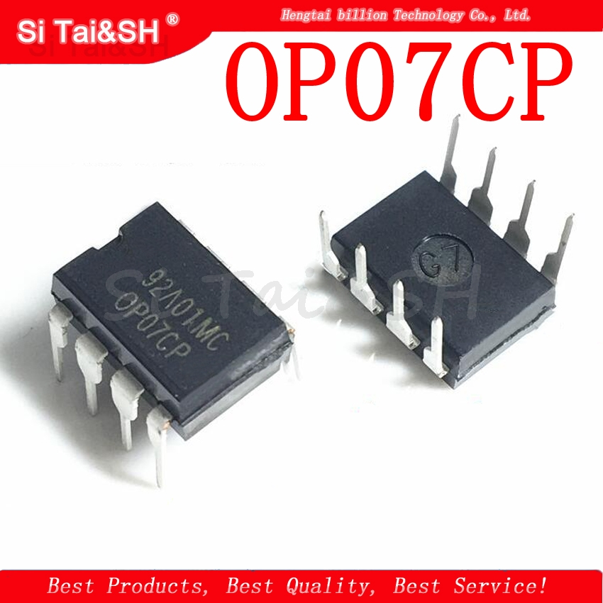 10PCS OP07CP DIP8 <font><b>OP07</b></font> DIP DIP-8 new and original IC Voltage dual op amp chip image