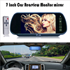 High Resolution 7 TFT LCD Color Screen Car Monitor Car Rearview Mirrror Monitor Fit For Camera