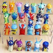 Novo 24 modelos dos desenhos animados anime slugterra figuras de ação mini slugterra pvc figuras brinquedos presentes para crianças