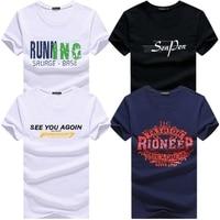 KUYOMENS 2018 Casual Men's t shirt men Brand T Shirt Printed T Shirts Summer High Quality Hipster O neck tee shirts 4pcs