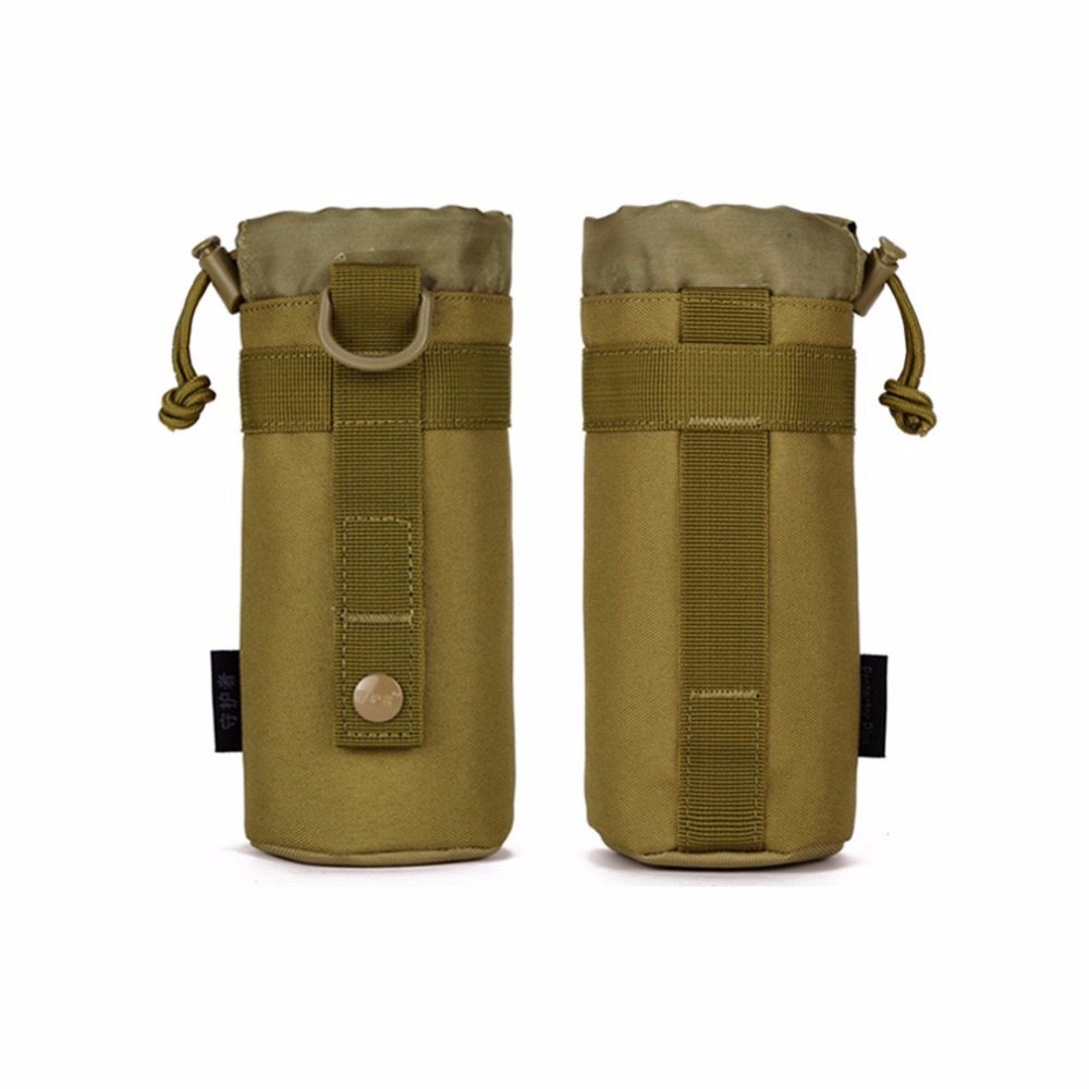 Travel Camp Sustainment Purse Bag Glass Cover Woodland Army Tactics Gear Pocket Outdoors Mineral Water Bottle Pouch Molle