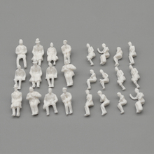 Teraysun New All sitting White Unpainted Architectural 1:87 HO  Scale Model Figures Pack of 200