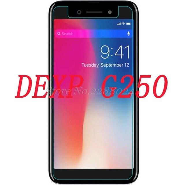Smartphone de vidrio templado 9 h para DEXP G250 explosión-Película protectora a prueba de pantalla Protector de la cubierta del teléfono