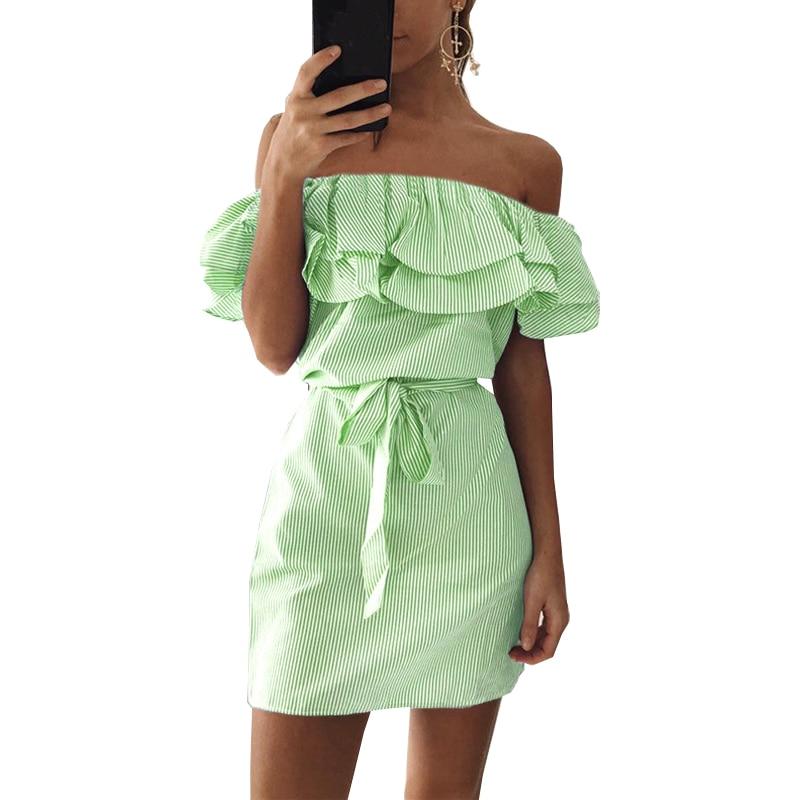 8afd3d8ce05da Women Dresses Striped Plus size Summer Dress Ruffle Collar 2019 Bandage  Sundress Casual Sexy Bodycon Vestido De Festa ONY0304