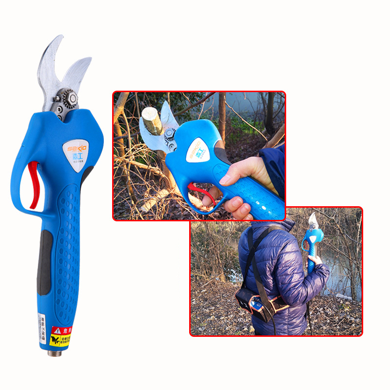 220V Electric chargeable fruit tree branch cutter Gardening scissors Pruning tool 25-30MM quality steel compression spring gardening scissors accessories tool
