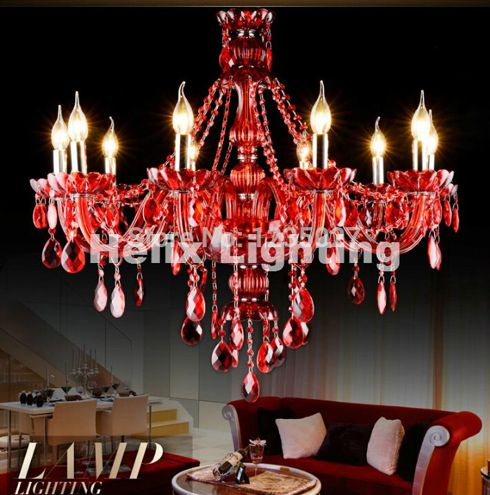 Free Shipping Factory Direct Selling RED crystal chandelier - Indoor Lighting