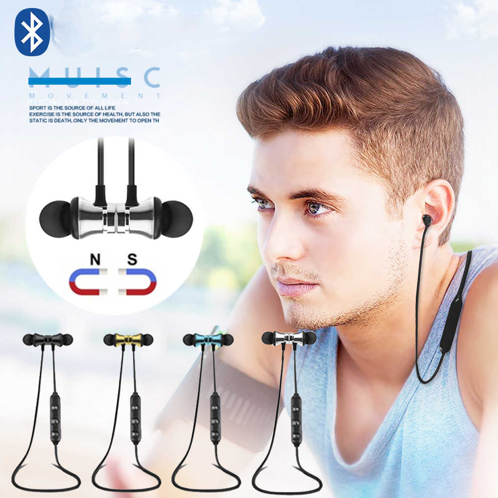 S8 Nirkabel Magnetik Nirkabel Bluetooth Earphone XT 11 Bass Stereo Headset Olahraga Menjalankan In-Ear Sweatproof Headphone dengan MIC