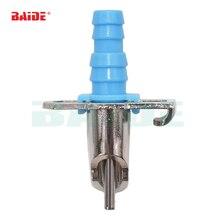 Bebedor y alimentador automático de agua, bebedor de agua con resorte y acoplamiento en T para la limpieza de 1000sets/lote