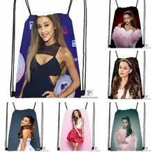 Custom Ariana Grande (30) Drawstring Backpack Bag Cute Daypack Kids Satchel (Black Back) 31x40cm#180531-03-70