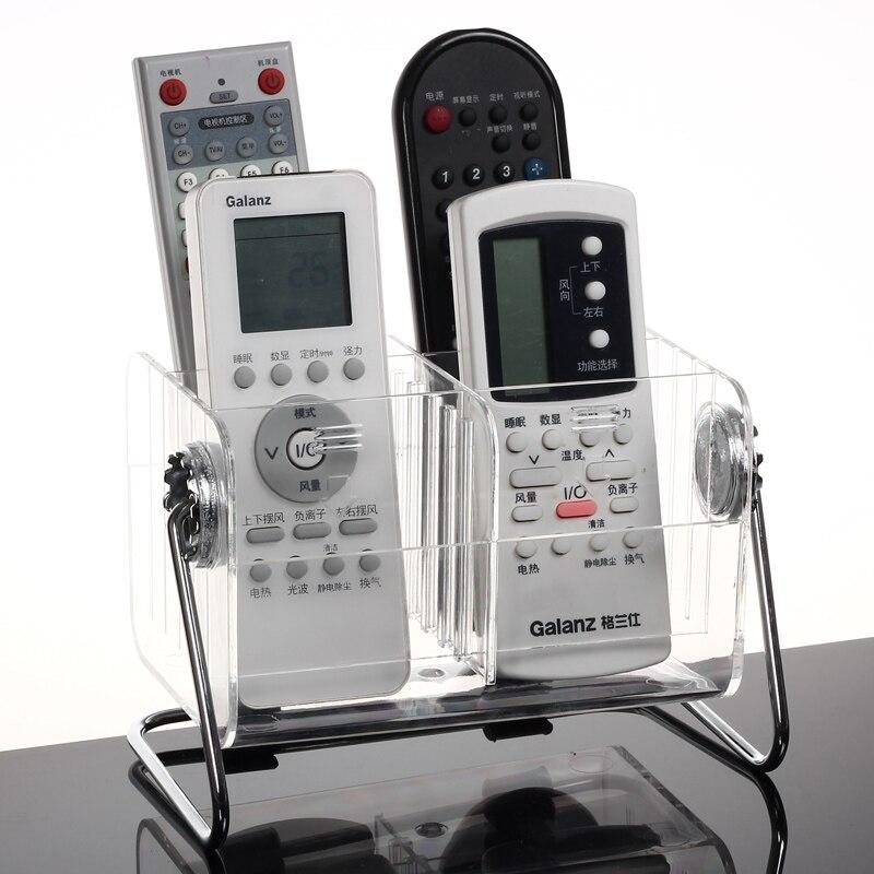 Transparent remote control box Rotation Acrylic pen holder Desktop finishing holder storage box remote control organizer