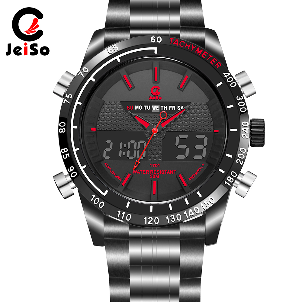 2018 New Fashion Men Watches Full Steel Men's Quartz Hour Clock Analog LED Watch Sports Military Wrist Watch Relogio Masculino colorful mini car men watches new fashion quartz analog wrist hour montre homme relogio clock free shipping