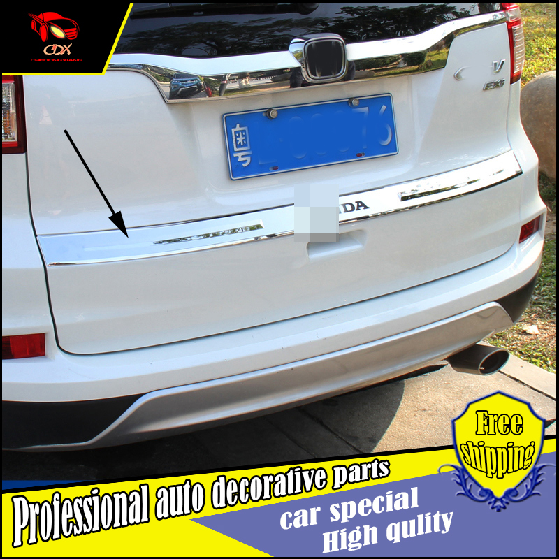 Car Styling Rear Door Tail Gate stainless steel Trim Cover Sticker For Honda CRV 2015 2016 Exterior tailgate trim Decoration
