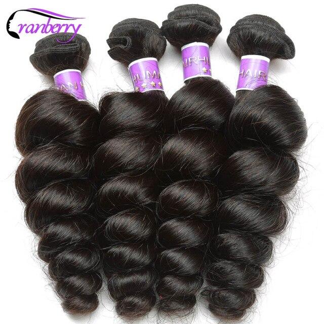 Cranberry Hair Store Peruvian Loose Wave Hair 3 Bundles 100 Human