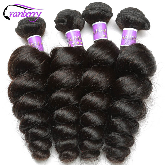 CRANBERRY Hair Store Peruvian Loose Wave Hair Bundles 100% Human Hair  Extensions Natural Hair Weave Bundles 8-26 Inch Non Remy f46032283113