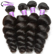 CRANBERRY Hair Store Peruvian Loose Wave Hair Bundles 100% Human Hair Extensions Natural Hair Weave Bundles 8-26 Inch Non Remy(China)