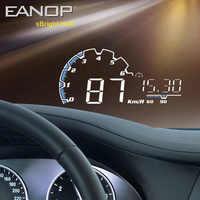 EANOP sBright 3.0 Auto HUD Head up display OBD II EUOBD Del Computer Tachimetro hud pellicola di elettronica di Auto Tensione di Allarme di Velocità Eccessiva