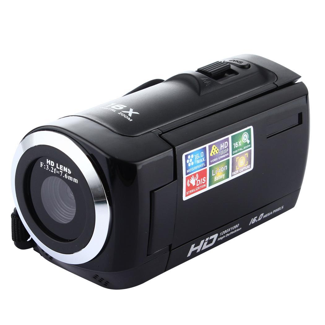 1080P Full HD 16MP Digital Video Camcorder 16X HDC6A Camera with Rotating SD/SDHC Card(max 32GB ) LCD Screen