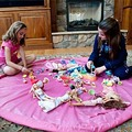 100cm Storage Bag Play Mats Portable Kids Toy Storage Bag Indoor Organizer Home Outdoor Play Mat Child Toy Summer Birthday Gift