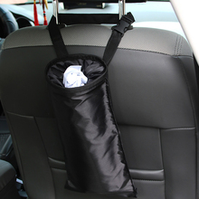 Car Trash Bag Seat Back Hanging Garbage Bin Dustbin Rubbish Tidying Portable Organizer Storage Washable Auto