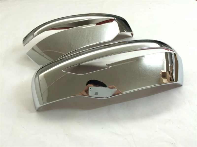 Untuk Nissan Qashqai J11 2016 2017 2018 2019 ABS Chrome/Serat Karbon Belakang Pandangan Sisi Kaca Cermin Penutup trim Accessories 2 Pcs