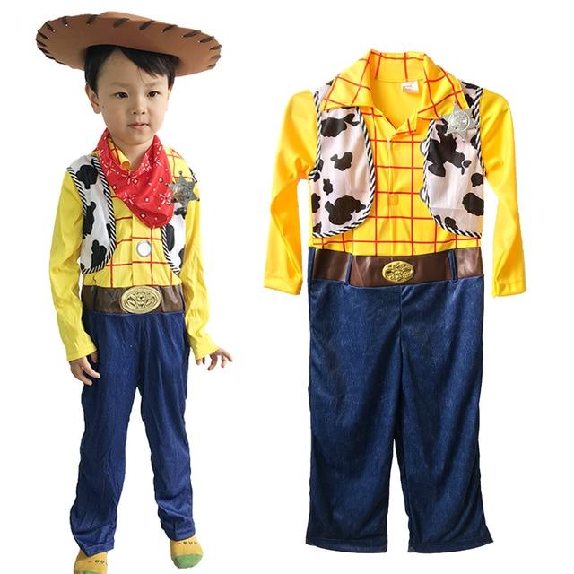 Halloween Woody Cowboy Western Adult Child Fancy Dress Costume u0026 Hat  sc 1 st  AliExpress.com & Halloween Woody Cowboy Western Adult Child Fancy Dress Costume u0026 Hat ...