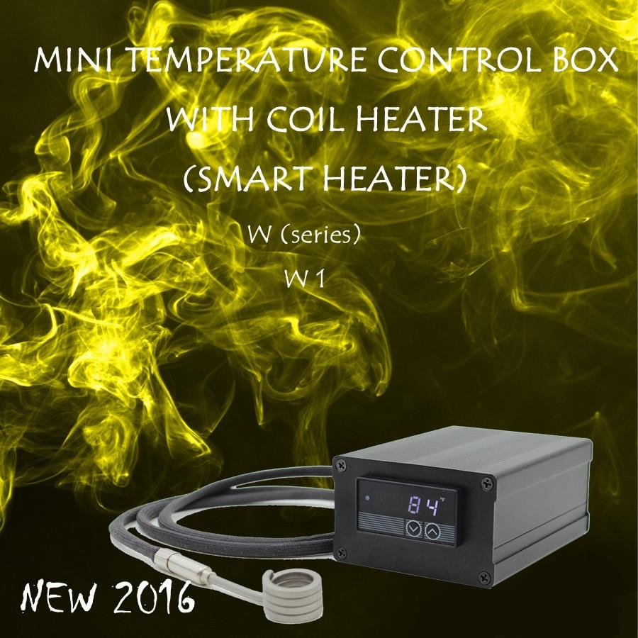 (NEW 2016 ,W1 ,White) MINI TEMPERATURE CONTROL BOX WITH NAIL COIL HEATER, HOT RUNNER COIL HEATER NAIL ,DIRECT MANUFACTURER! new 2016 w2 white mini temperature control box nail coil heater titanium nail electronic cigarette
