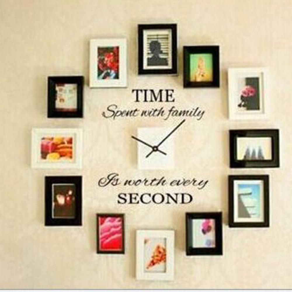 Time Spent With Family Quote Wall Decoration Letters Vinyl Home Wall Decor  Sticker Art Quote DIY Murals Decals Clock Decoration In Wall Stickers From  Home ...