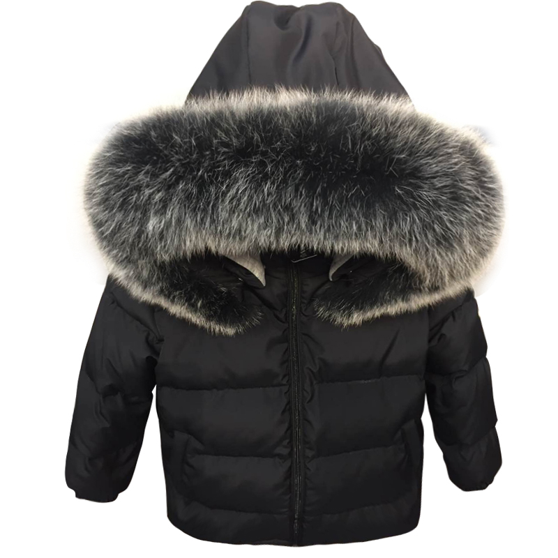 0d38cd448 Baby Russian Winter Colorful Real Racoon Fur Duck Down Jacket for ...