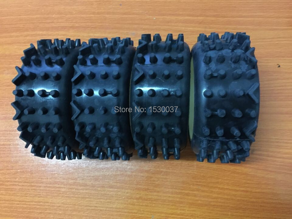 4 x Super-grip Knobbed Tire for 1/6 FG Off-Road Baja Buggy Leopard Beetle Marder