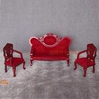1:12 Cute MINI Dollhouse Miniature Three chairs