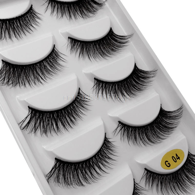 HTB19.XQXPvuK1Rjy0Faq6x2aVXaQ New 3D 5 Pairs Mink Eyelashes extension make up natural Long false eyelashes fake eye Lashes mink Makeup wholesale Lashes