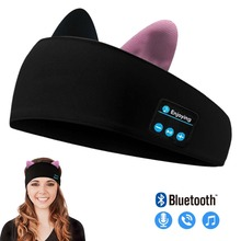 2020 New Kids Bluetooth Headphone Soft Bluetooth Sleep Sport Headband Music Player Support Handsfree Best Birthday Gift Cute Cat