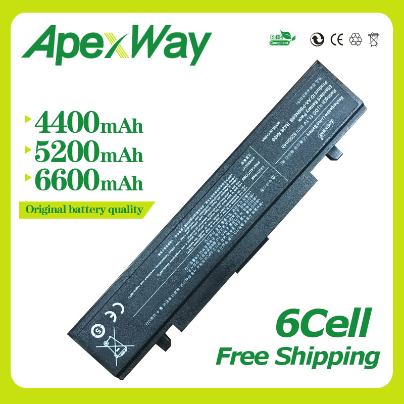 Apexway RV520 batería R428 para SAMSUNG AA PB9NS6B RC410 RC510 RC512 RC710 RF410 RF510 RF511 RF711 RV410 RV508 NP355V5C PB9NC6B