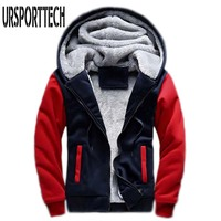 Hot Sale Men S Hooded Casual Brand Hoodies Clothing Mens Winter Thickened Warm Coat Jacket Male