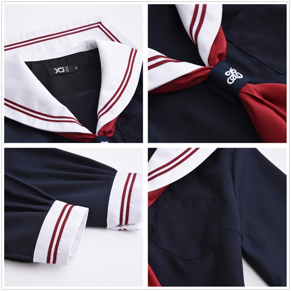 Uniformes d'étudiants japonais uniforme d'école japon et corée du sud costume de marin costumes anime COS japon école académique ensembles féminins - 3