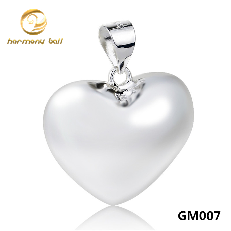 Wholesale GM007 Copper Heart Pendant Angel Caller Jewelry Harmony Ball Ringing Chime Pendant For font b