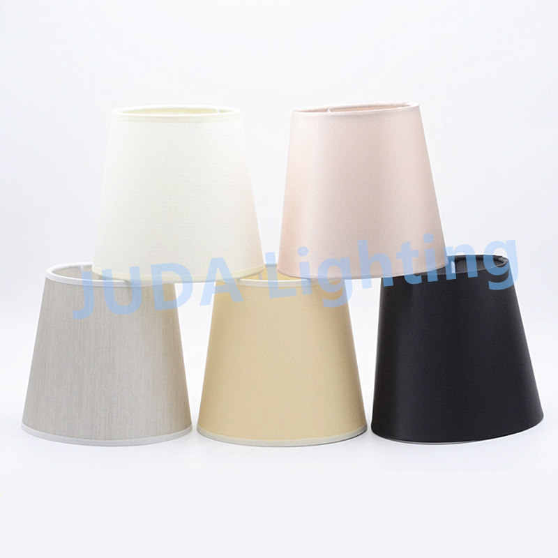 Lamp Covers Lamp Shades for led chandeliers pendant light crystal lamp wall light cover iron with cloth jacket Cone shaped cover