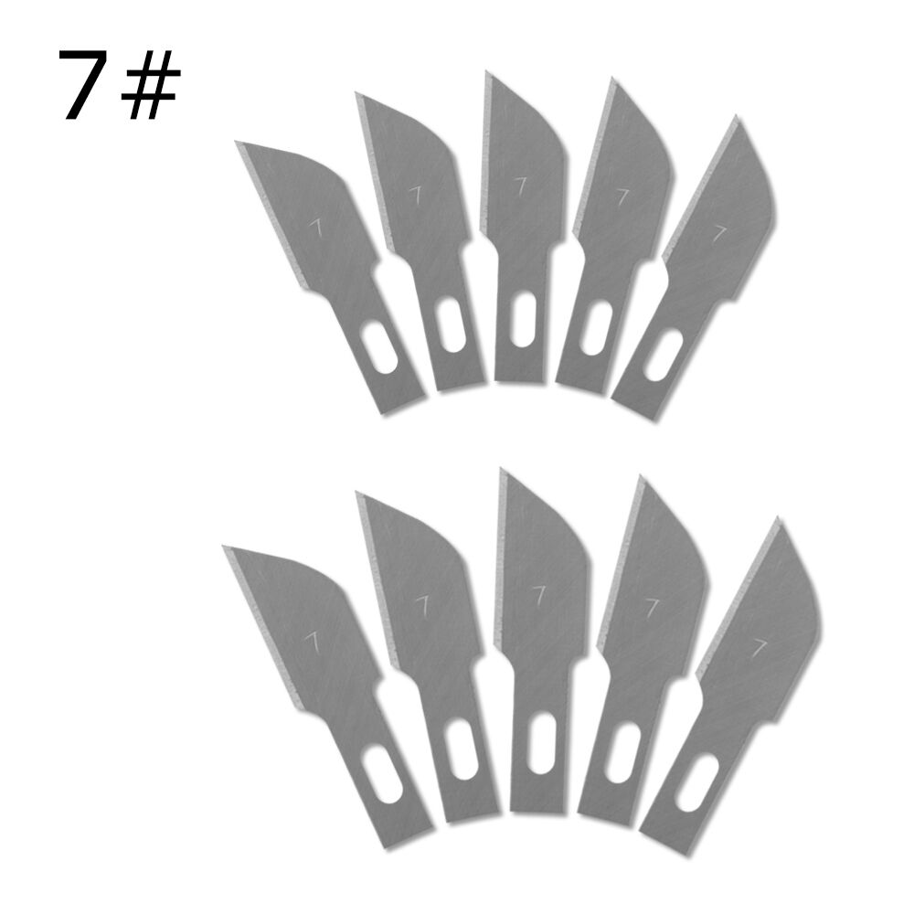 Free Shipping 10 Pcs One Lot 7#Laptop PCB Knife Blades Engraving Knife Paper Cut Knives Blades Replacement Paper Cutter