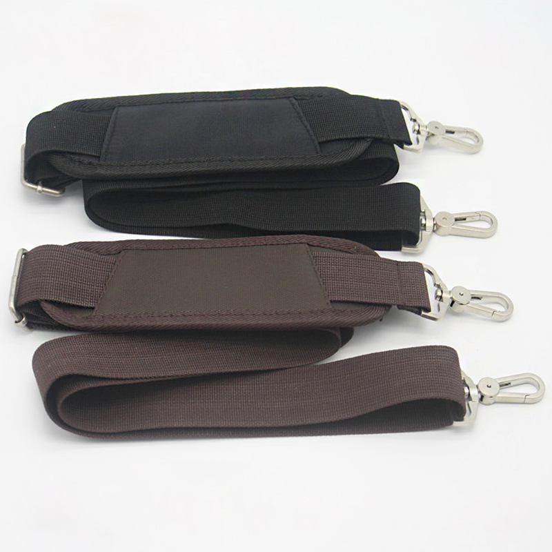 3.8cm Wide Nylon Belt Strap For Men Bag Long Shoulder Strap Man Laptop Bag Straps Repair Bag Shoulder Strap Powerful Hook KZ0395