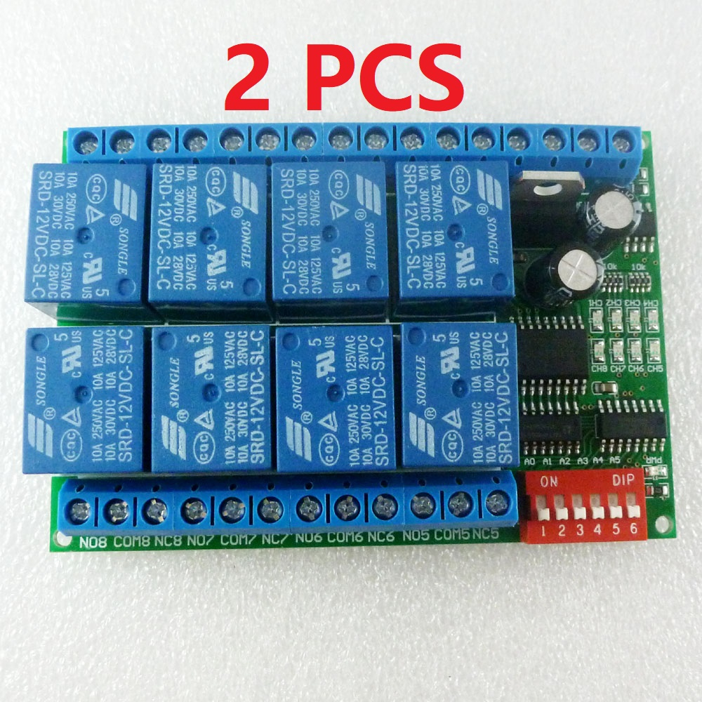 2 PCS 8 Channel DC 12V RS485 Relay Module Modbus RTU 485 Remote Control Switch for PLC PTZ Camera Security Monitoring2 PCS 8 Channel DC 12V RS485 Relay Module Modbus RTU 485 Remote Control Switch for PLC PTZ Camera Security Monitoring