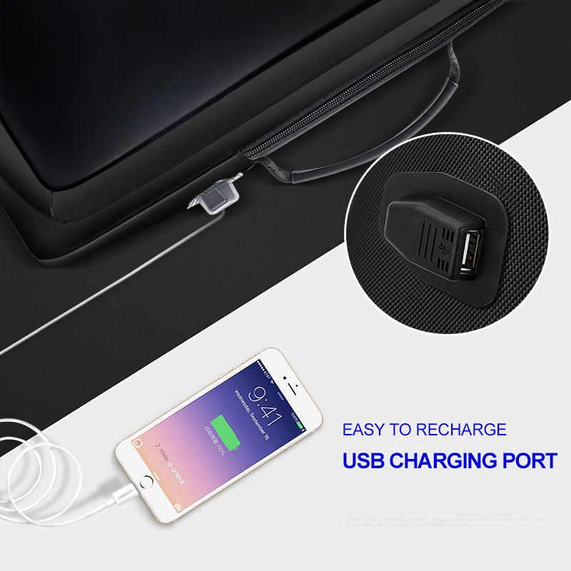 BOPAI 男性バックパック拡大抗盗難のための 15.6 インチ USB 外部充電多機能ビジネスバックパック男性