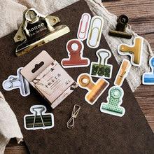 45 Pcs/box Creative clamp mini Paper Decoration DIY Scrapbook Notebook Album seal Sticker Stationery Kawaii Stickers