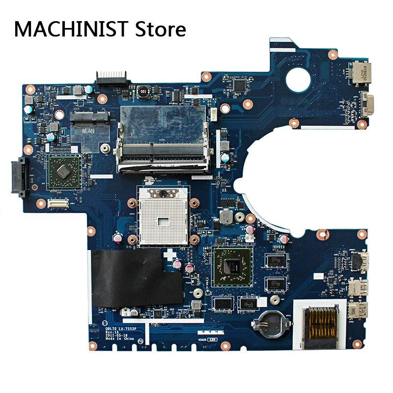 Original For ASUS K73T X73T K73TA K73TK R73T laptop notebook motherboard QBL70 LA-7553P HD7670M DDR3