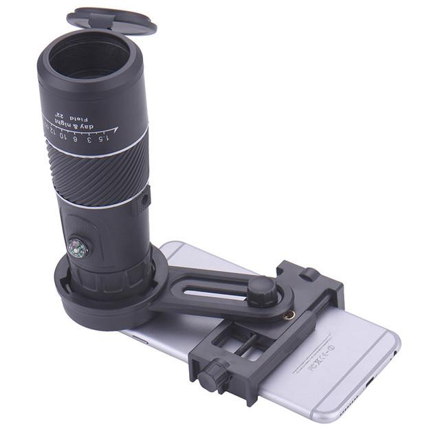Universal 8x40 senderismo brújula lente zoom de la cámara del telescopio para el iphone 6 77 s samsung xiaomi smartphone